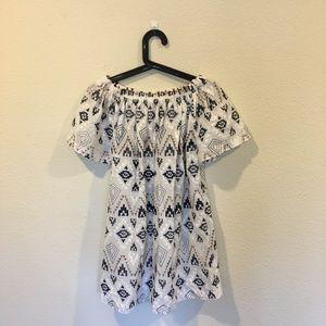 Re:named off the shoulder printed dress